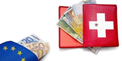 Schweißer Franken und der Euro - die Mindestkursaufhebung